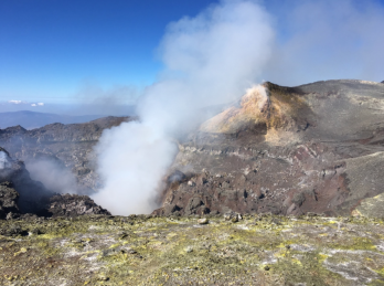 steaming crater etna